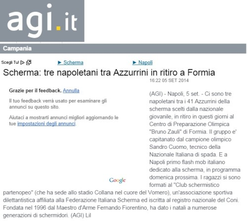 Azzurrini 2014 from AGI